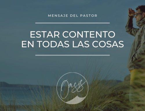 Mensaje del Pastor/Está contento.